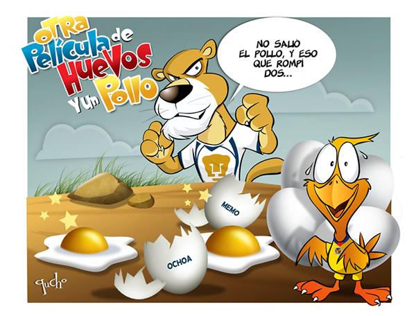 Pumas V S America Caricatura