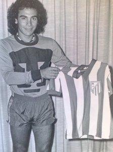 Hugo con la del Atlético