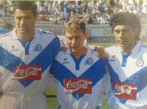 Hugo, Butragueño y Michel en el Celaya