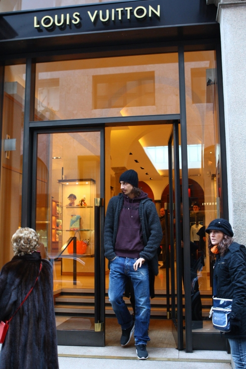 Ibrahimovic de shopping